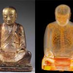 Descoperiri arheologice: Călugăr mumificat în interiorul statuei lui Budha