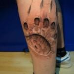 """Tatuaje iluzii optice - Efectul """"Labă de vârcolac"""""""