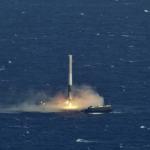 Pentru prima oară Space X a aterizat cu succes racheta sa  pe o navă dronă plutitoare