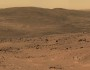 This section from a panorama that NASA's Mars Exploration Rover Spirit acquired in October 2005 from the top of 'Husband Hill' presents the view toward the south from that summit.