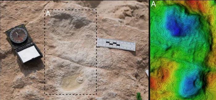 Urme de picioare umane vechi descoperite în Arabia Saudită